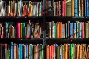 Hyller fulle av bøker
